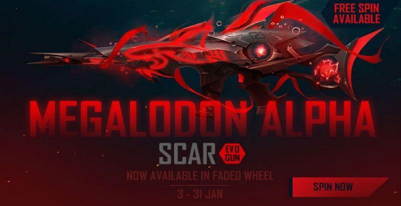 Scar Megalodon Alpha , Evo Gun Terbaru Free Fire
